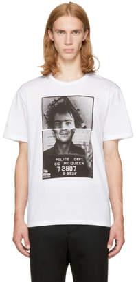 Neil Barrett White Sid McQueen Hybrid Mugshot T-Shirt