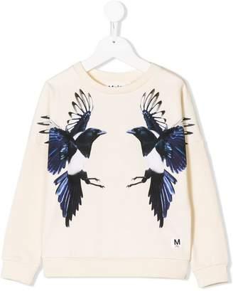 Molo magpies print sweatshirt