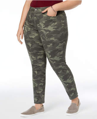 Style&Co. Style & Co Plus Size Camo-Print Skinny-Fit Jeans