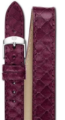 Michele 16mm Double-Wrap Snakeskin Watch Strap