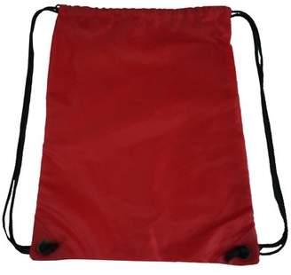 K-Cliffs Drawstring Backpack Gymsack Sport Cinch Bag Gym Bag Shoe Bag Wet Tote Bag, Red