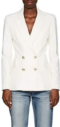 Derek Lam 10 Crosby Women's Cotton Double-Breasted Blazer - White