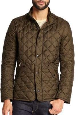 Barbour Men's Flyweight Quilted Jacket - Grey - Size Large
