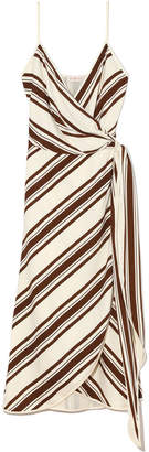 Tory Burch Grotto Striped Wrap Dress