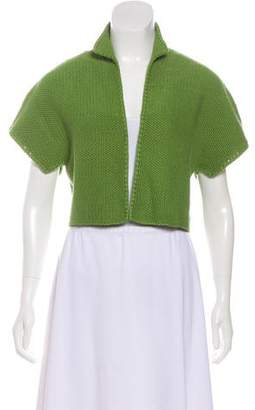 Akris Open Front Cropped Cardigan