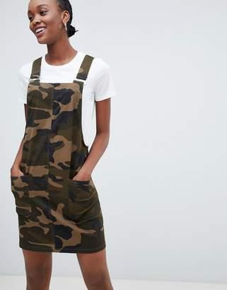 New Look Camo Print Pocket Pinny Dress