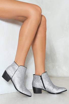 Nasty Gal Keeping a Low Profile Glitter Bootie