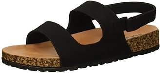 Qupid Women's Sling Back Flat Sandal