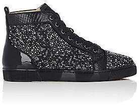 Christian Louboutin Men's Louis Flat Sneakers-Black