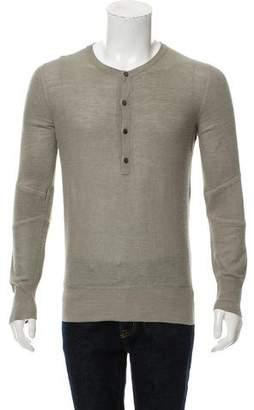 Belstaff Silk-Blend Henley Sweater