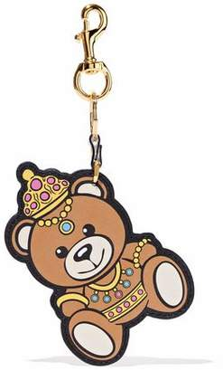 Moschino Printed Leather Keychain