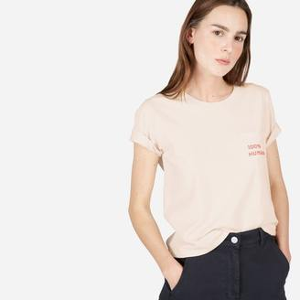 The Human Woman Cotton Box-Cut Tee in Small Print $22 thestylecure.com