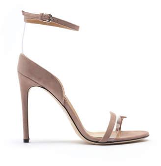 Sergio Rossi Karen Dual-Strap Suede Heels