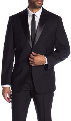 Calvin Klein Notch Collar Wool Tux Jacket