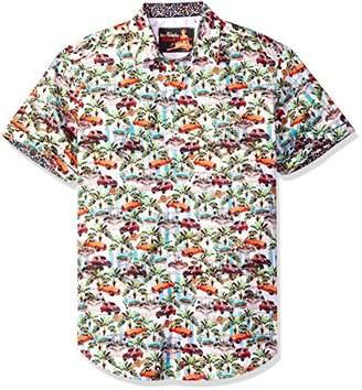 Robert Graham Men's Old Havana Short Sleeve Classic FIT Shirt