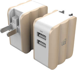 LAX Gadgets Rapid Dual Usb Wall Charger Adapter