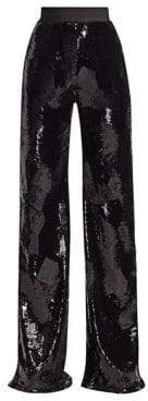 Alice + Olivia Brandon Maxwell Sequin Wide-Leg Pants