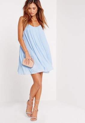 Missguided Strappy Pleated Sundress Blue