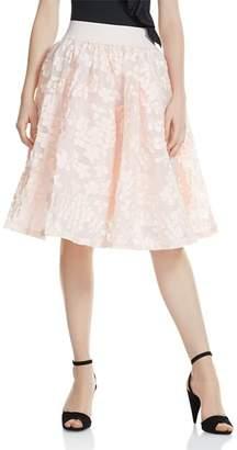 Maje Joshua Petal-Appliqué Midi Skirt