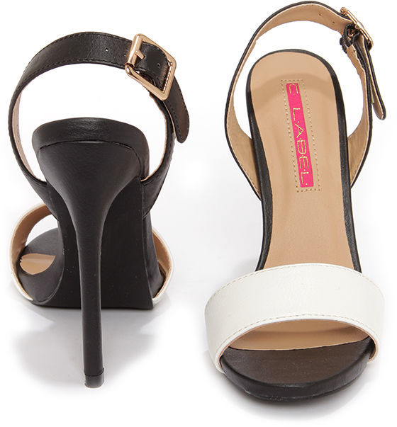 C Label Olive 16 Salmon and Nude Slingback Heels
