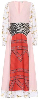 Ganni Mixed cotton poplin maxi dress