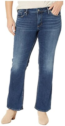 Silver Jeans Co. Plus Size Suki Mid-Rise Curvy Fit Slim Boot Jeans in Indigo W93616SDK424