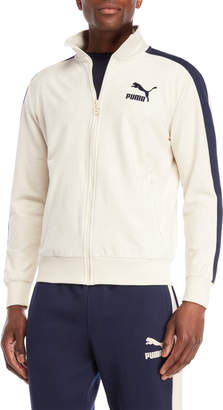 Puma Faux Suede Zip-Up Track Jacket