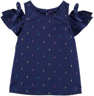 Carter's Toddler Girl Tribal Pom-Trim Top