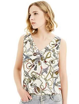 Basic Model Summer Tank Tops for Women Chiffon Sleeveless Shirts Casual V Neck/Crew Neck Blouses