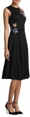 Jason Wu Ponte Crew Sleeveless Fit-&-Flare Dress