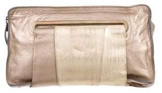 Chloé Metallic Leather Clutch