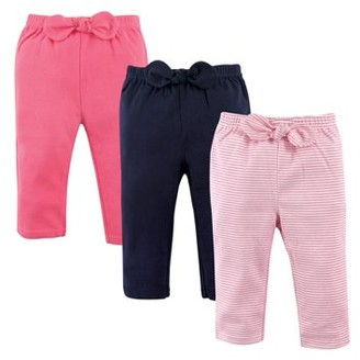 Hudson Baby Girl Pants, 3-Pack