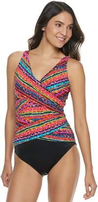 Croft & Barrow Women's Tummy Slimmer Crisscross One-Piece Swimsuit