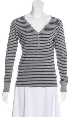 BCBGMAXAZRIA Striped Long Sleeve Top
