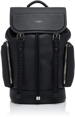 Givenchy Buckled Textured-Leather Backpack