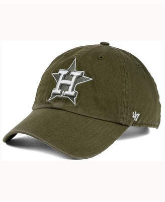 '47 Houston Astros Olive White Clean Up Cap