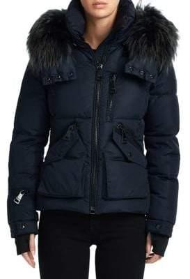SAM. Fox Fur Jetset Puffer Jacket