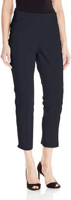 Briggs Women's Super Stretch Millennium Slimming Pull-on Ankle Pant