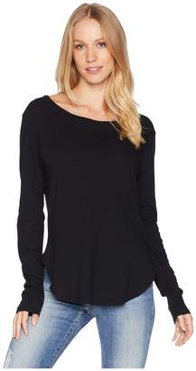 LnA Essential Cotton Long Sleeve Crew Neck Women's Clothing