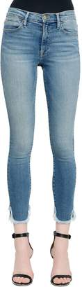 Frame Le High Skinny Petal Hem Denim Jeans