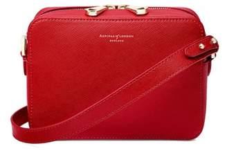 Aspinal of London Camera Bag In Scarlet Saffiano
