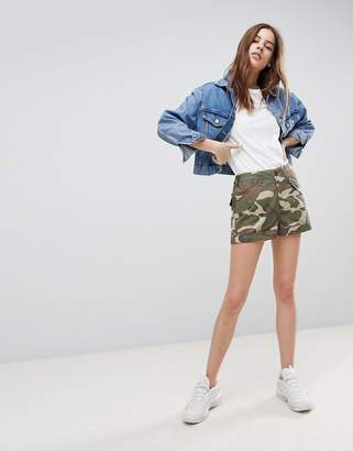 Asos DESIGN cargo shorts in camo