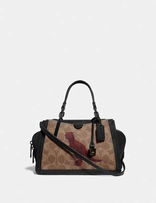Coach Dreamer 21 In Signature Canvas With Rexy By Sui Jianguo