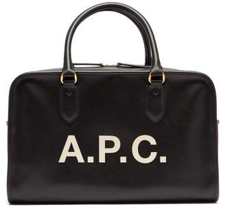 A.P.C. Sylvie Logo Print Bag - Womens - Black