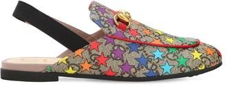 Gucci Star Print Mules W/ Elastic Slingback