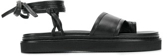 3.1 Phillip Lim Yasmine Ankle Wrap Platform Sandal