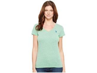 U.S. Polo Assn. V-Neck T-Shirt Women's T Shirt