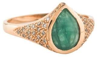 Jacquie Aiche 14K Emerald & Diamond She-Ra Ring