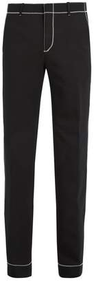 Givenchy Stitch Detail Straight Leg Trousers - Mens - Black