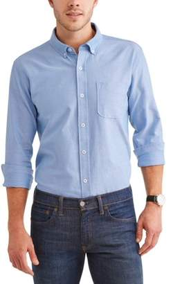 Cherokee Big Men's Cotton Oxford Long Sleeve Button Down Shirt